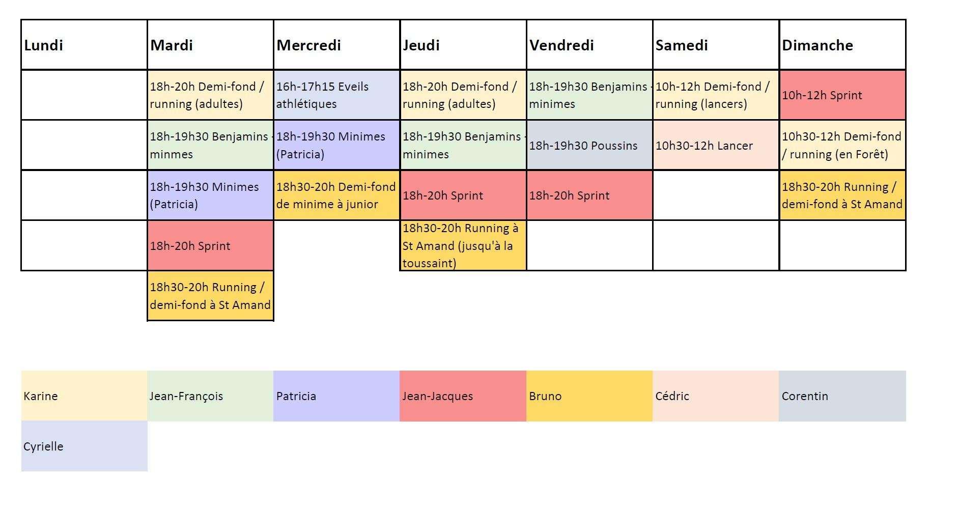 Horaires 2020 2022
